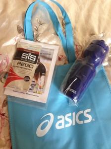 Asics goodie bag