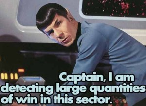 Spock win